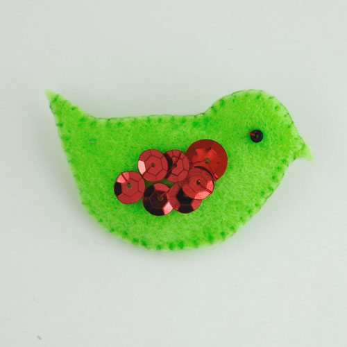 DIY felt christmas bird