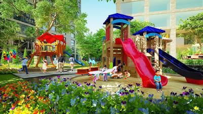 Bản thiết kế dự kiến khu vui chơi trẻ em dự án Grandeur Palace Giảng Võ