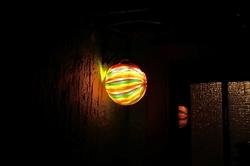 Laterne als Haustürbeleuchtung für die Martinssinger...