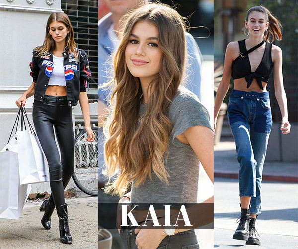 kaia gerber closet items she wore
