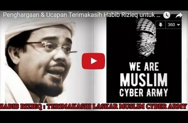 Hasil gambar untuk hoax muslim cyber army youtube