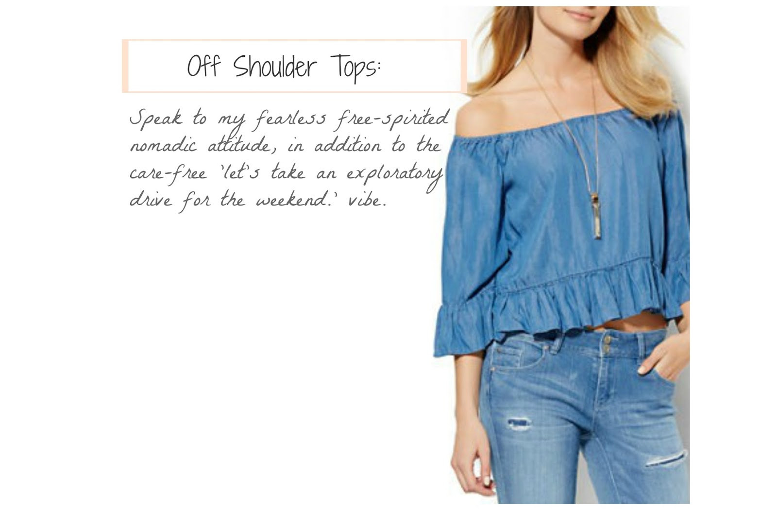 Spring-2016-Fashion-Style-Mood-Flare-Jeans-Tie-Neck-Off-Shoulder-Blouse-Mules-Clogs