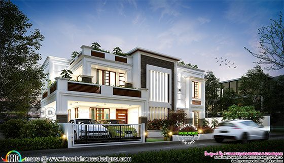 4 BHK, 2583 house plan in contemporary style