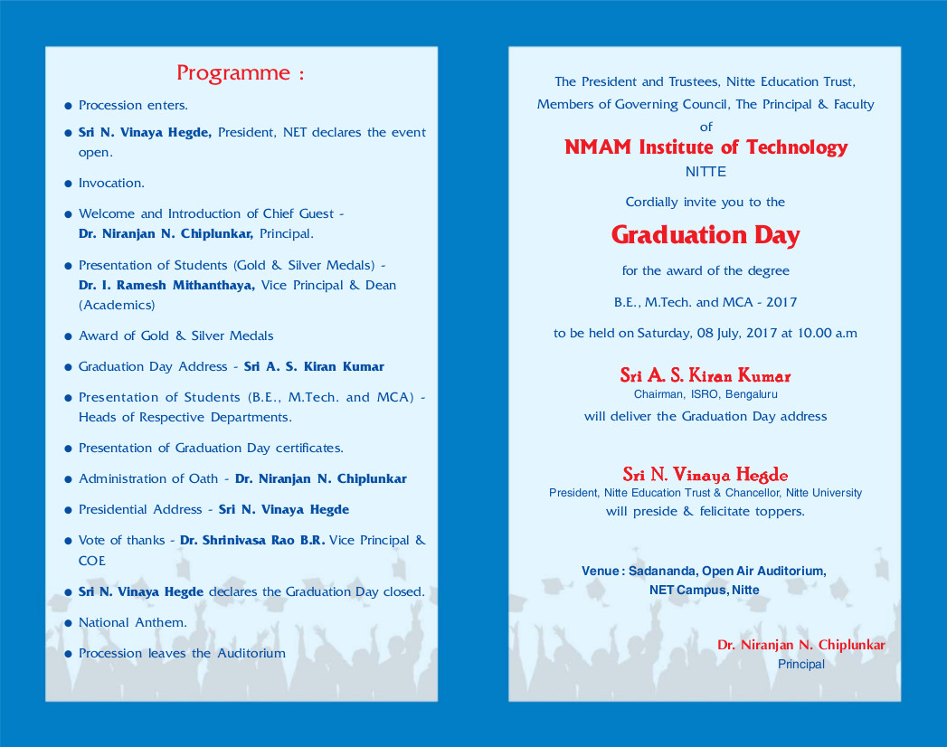Graduation Day 2017 NMAMIT Nitte University Nitte Education