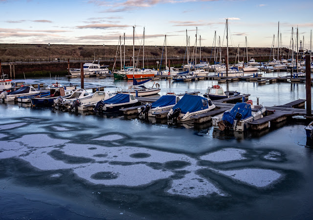 Photo of another view of ice on the water at Maryport Marina
