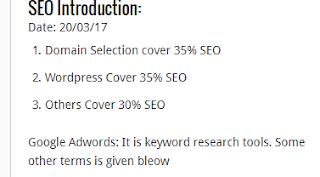 SEO Search Engine Optimization for Wordpress Part1