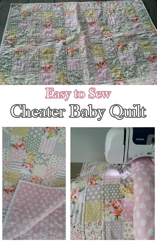 Cheater Baby Quilt Free Tutorial designed by Michelle of Decor and the Dog