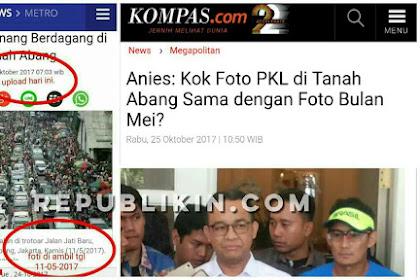 Nyinyiran MetroTV Soal Foto PKL Tanah Abang, Disentil Anis: Kok Sama dengan Foto Bulan Mei?