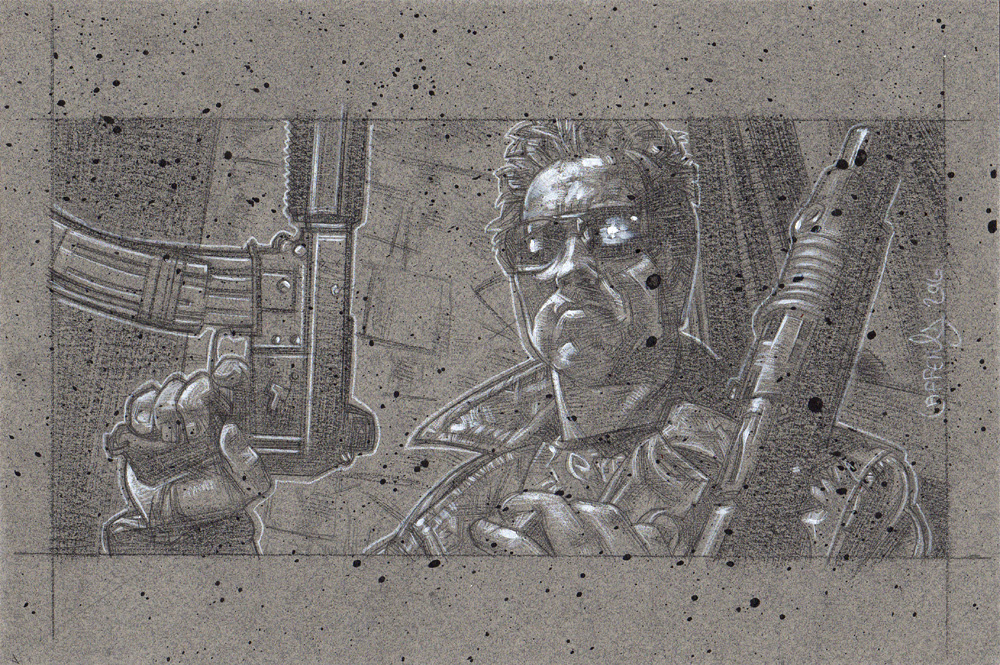 Arnold Schwarzenegger as the Terminator, Artwork© Jeff Lafferty