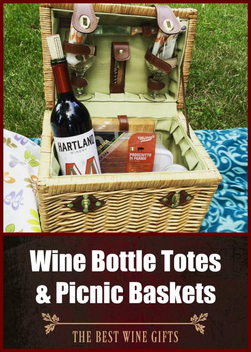 Wine Bottle Totes Picnic Basket
