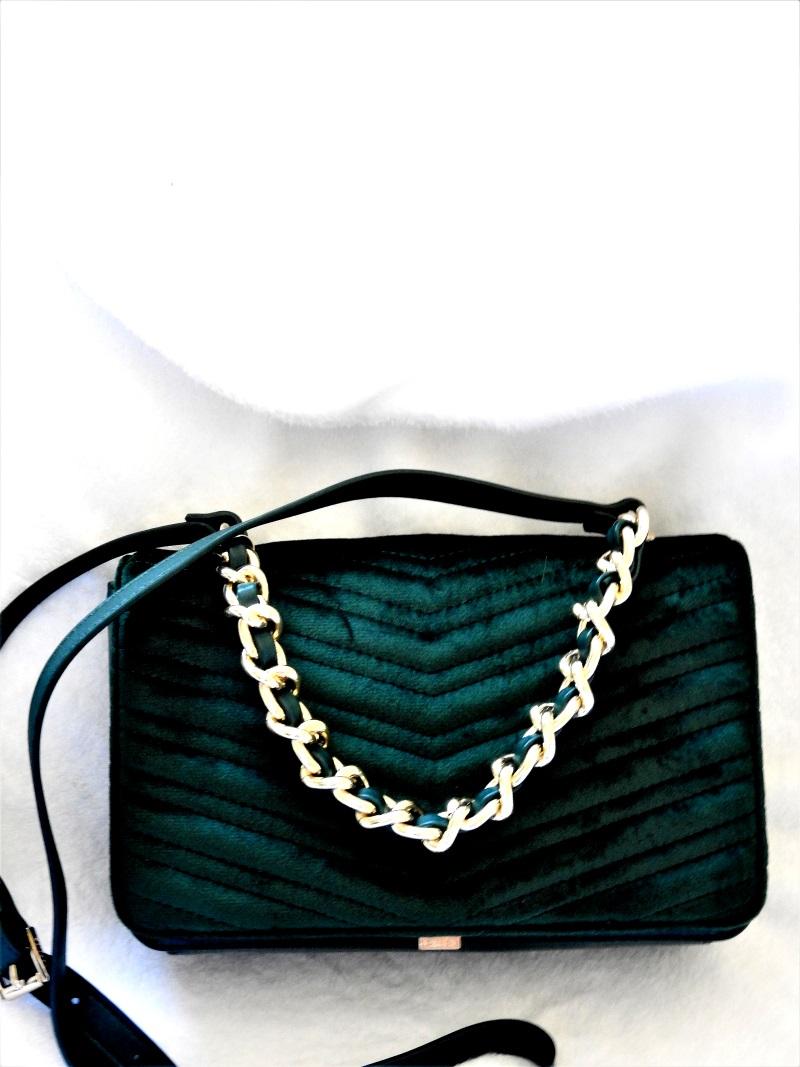 Emerald Velvet Purse