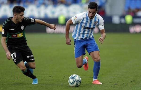 El Málaga saca el coraje y empata contra el Elche (3-3)