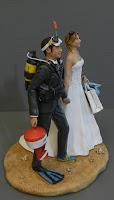 cake topper divertenti realistici sposo sub sposa passione moda orme magiche