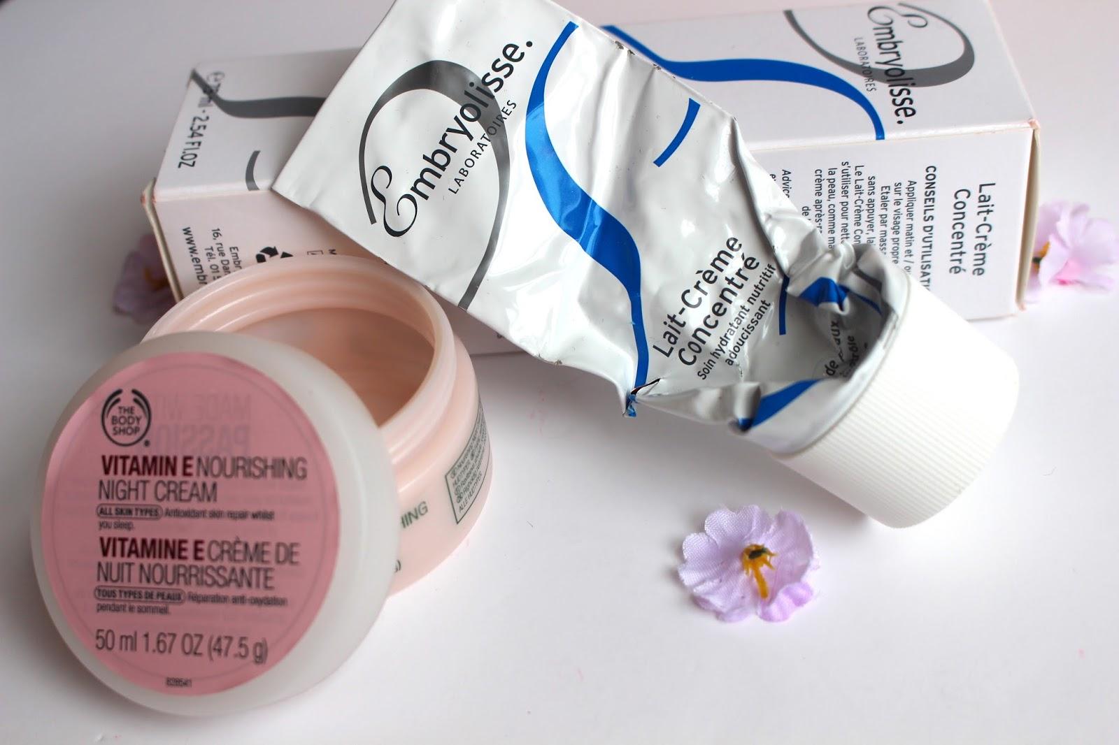 bodyshop embryolisse creams good for skin empties