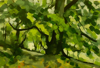 Painting of Wharfedale The beech tree