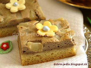 Tvarohový koláč s hruškami - recepty