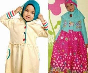 Baju muslim untuk balita anak perempuan