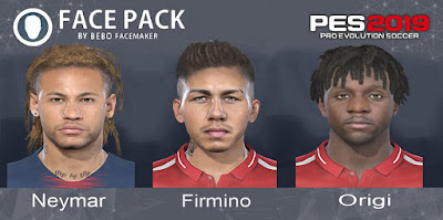 PES 2019 Facepack vol 2 by Bebo Facemaker