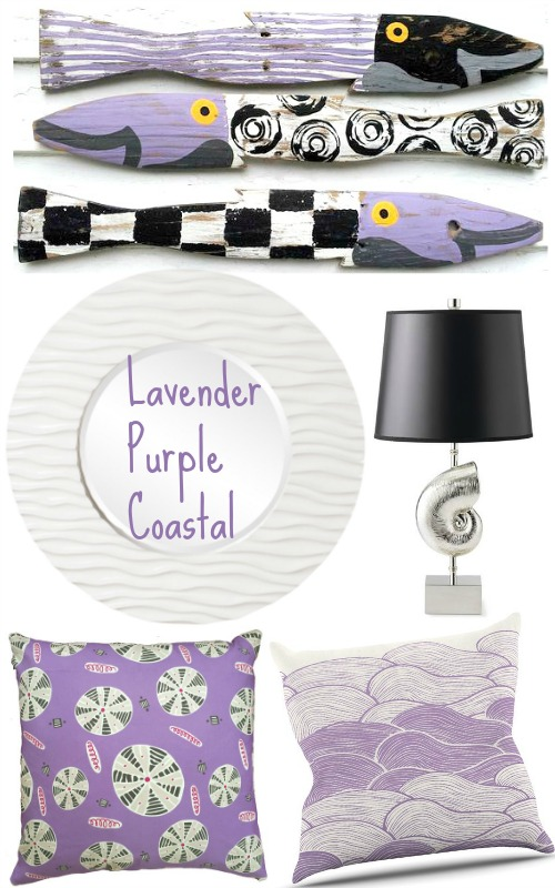Lavender Purple Coastal Beach Decor
