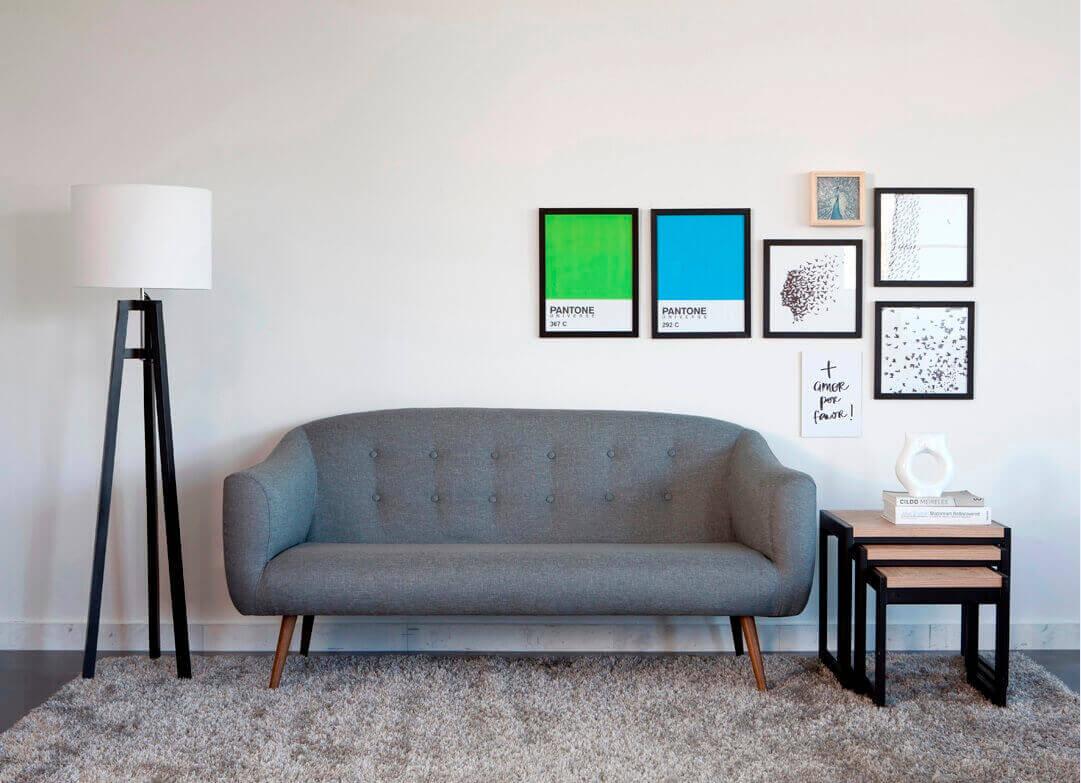 decoração com quadros na sala