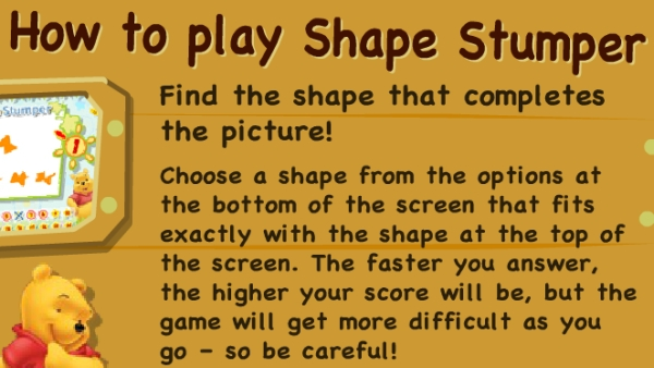 Shape Stumper game