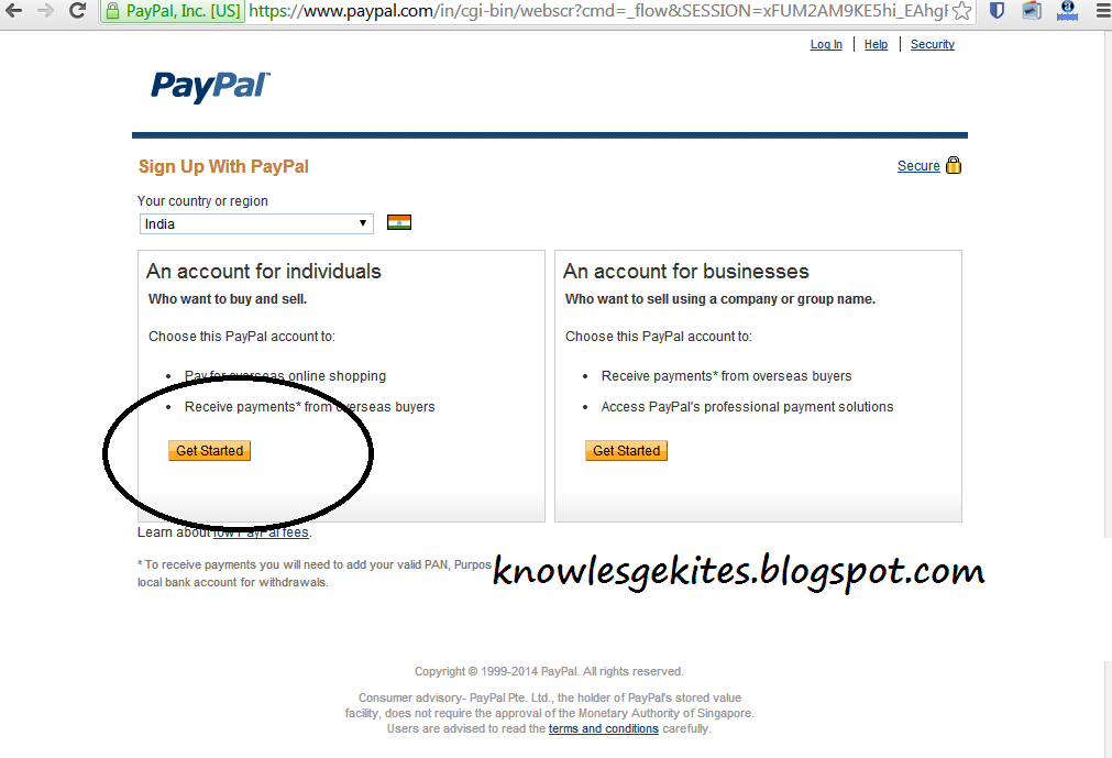 How to create PayPal Account without Debit-Credit card step 2