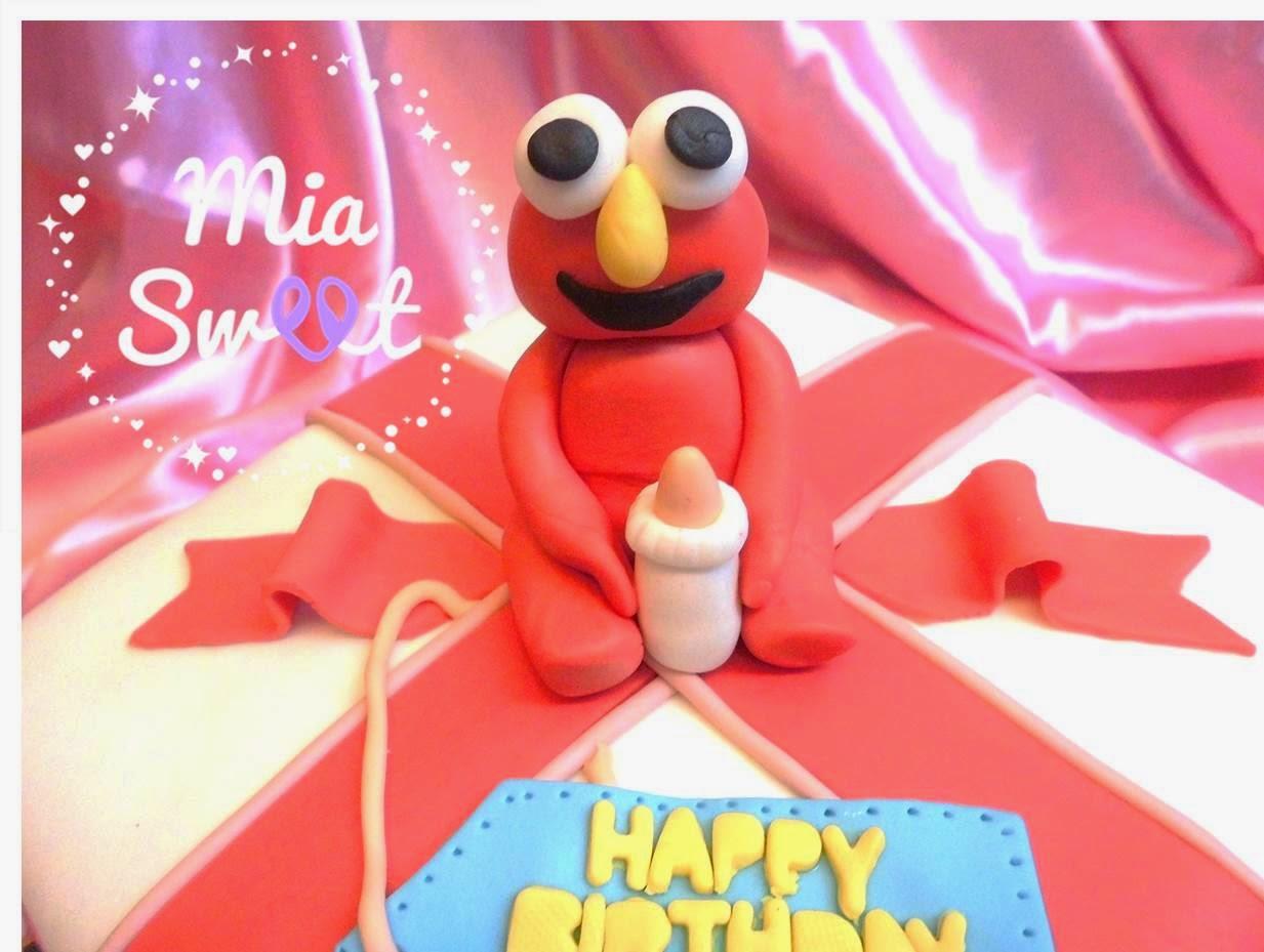 Mia Sweet Elmo Birthday Cake