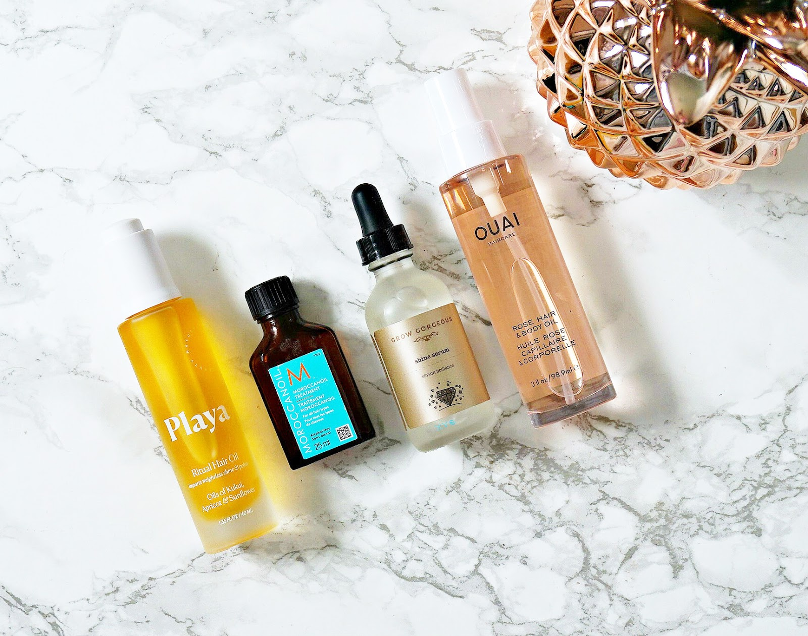 Grow Gorgeous, Hair Oil, Haircare, Moroccanoil, Ouai, Ouai Rose Hair & Body Oil, Playa, review,