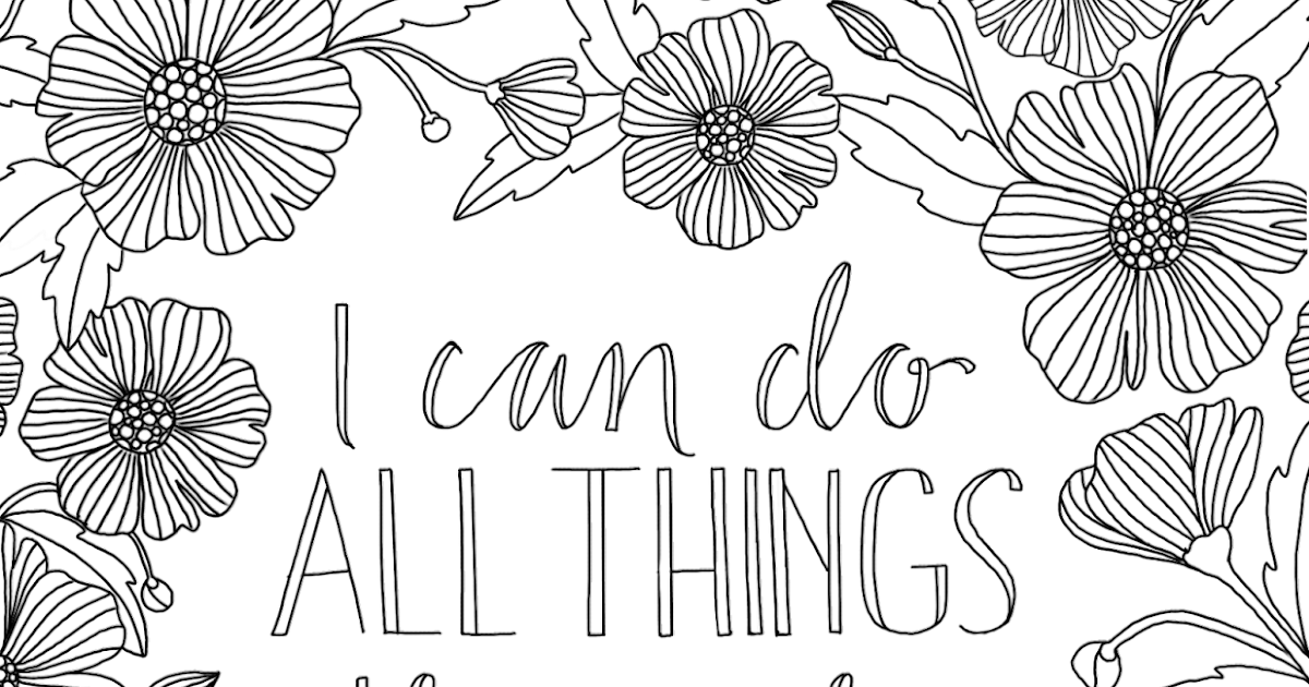 just what i {squeeze} in: All Things through Christ