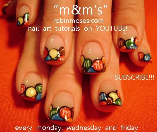 Robin Moses Nail Art: M&M nails, retro skulls pink and ...