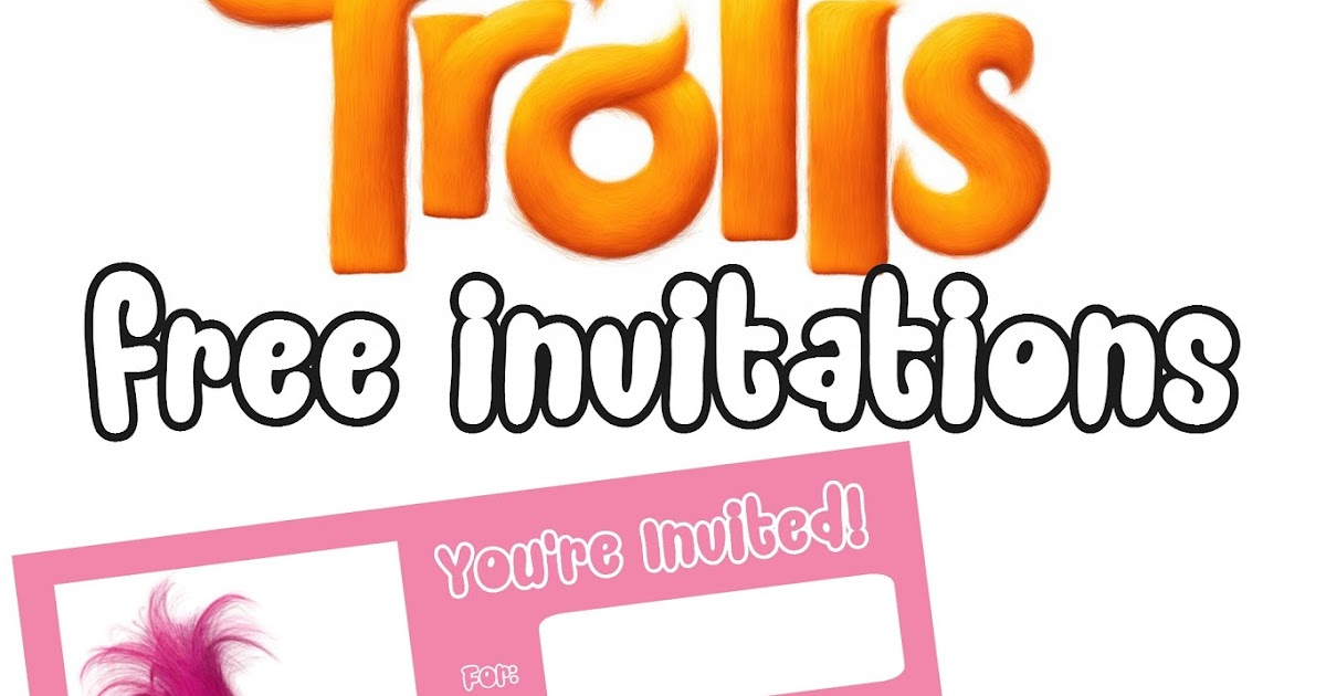 Musings of an Average Mom: Trolls Movie Invitations