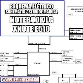 Esquema Elétrico Notebook Laptop Notebook  LG X NOTE E510 Manual de Serviço  Service Manual schematic Diagram Notebook Laptop  LG X NOTE E510    Esquematico Notebook Laptop  LG X NOTE E510