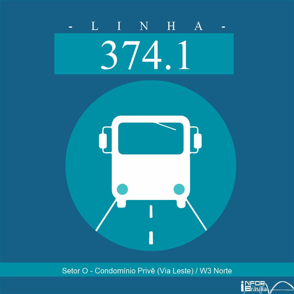 Horário de ônibus e itinerário 374.1 - Setor O - Condomínio Privê (Via Leste) / W3 Norte