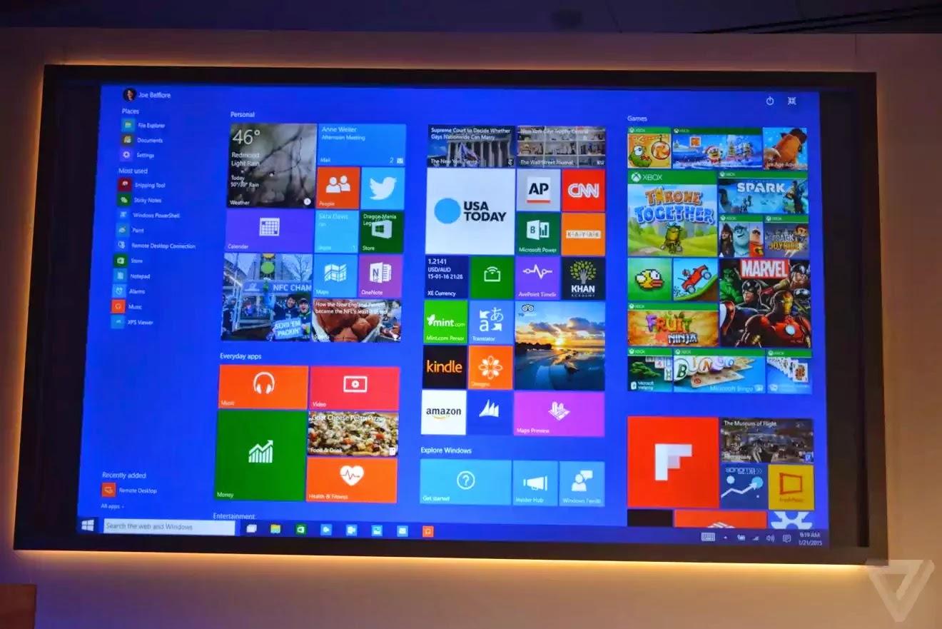 Giao diện Modern UI được thiết kế lại trên Windows 10