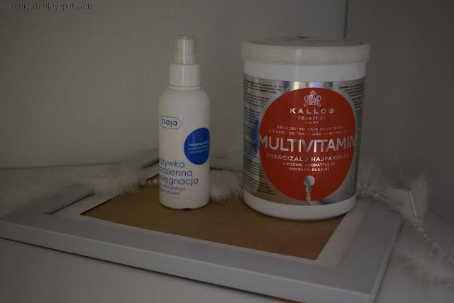 #recenzja - Ziaja codzienna odżywka pielęgnacyjna, Kallos maska multivitamina