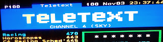 Teletext on Channel 4 (Sky) Captured via Freesat receiver.