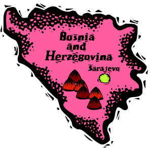 Sketch map illustration of Bosnia and Herzegovina
