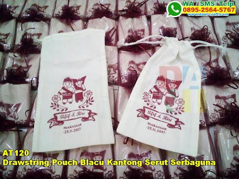 Grosir Drawstring Pouch Blacu Kantong Serut Serbaguna