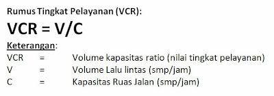 Rumus Perhitungan Tingkat Pelayanan Jalan,  (IHCM 1997)