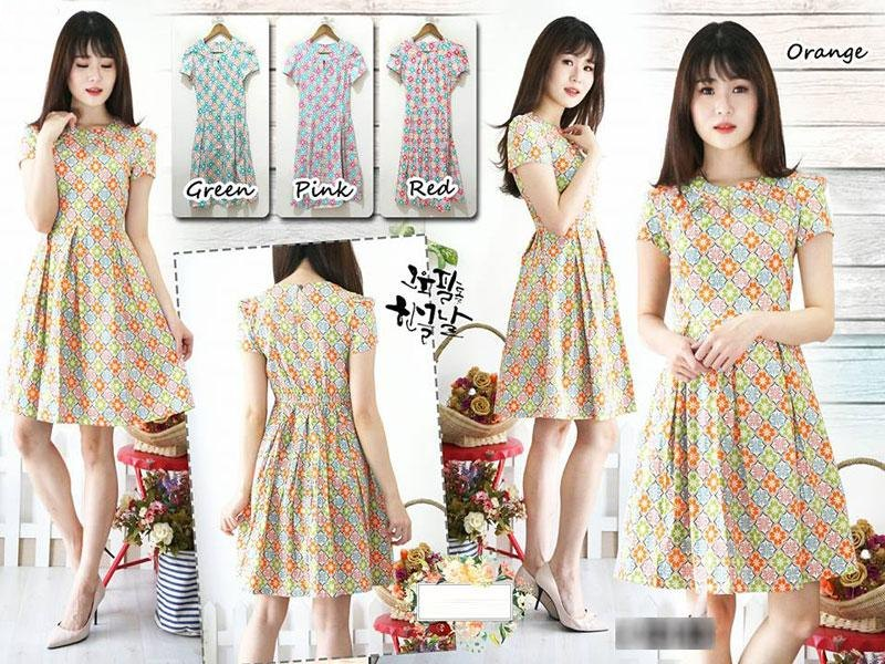 Jual Baju Batik Batik Dress Anna - 13500
