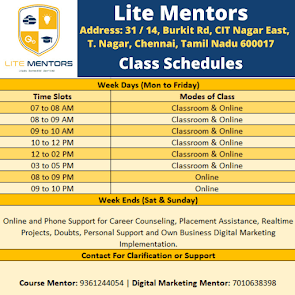 Digital Marketing Course Schedules