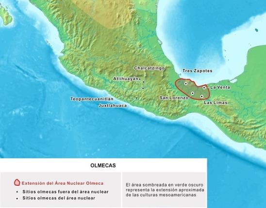 area desarollo cultura olmeca