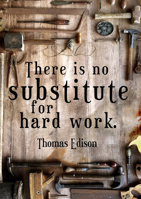 There is no substitute for hard work - Thomas Edison