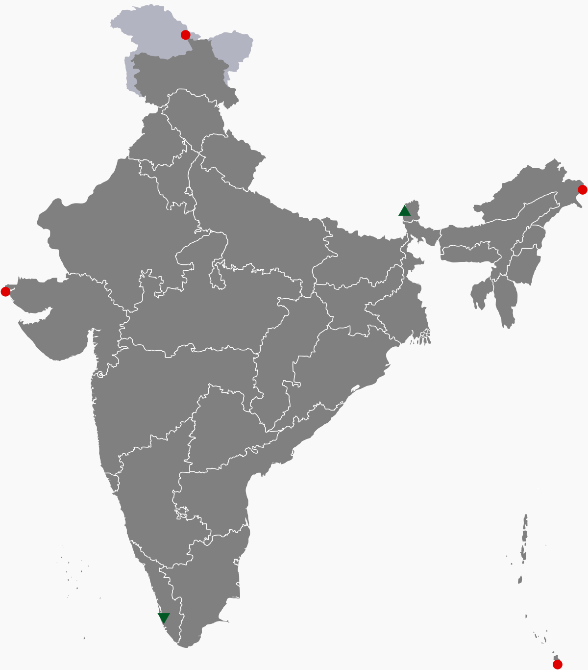 Maps for half yearly exams geography the extreme point to india to four sides east west north south are as below publicscrutiny Image collections