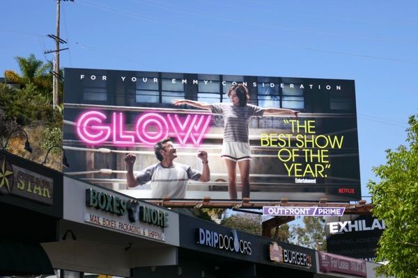 GLOW 2018 Emmy FYC billboard Sunset Strip