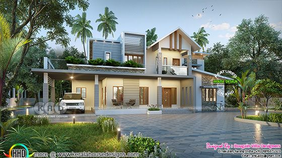 2350 square feet 4 bedroom classic contemporary home plan