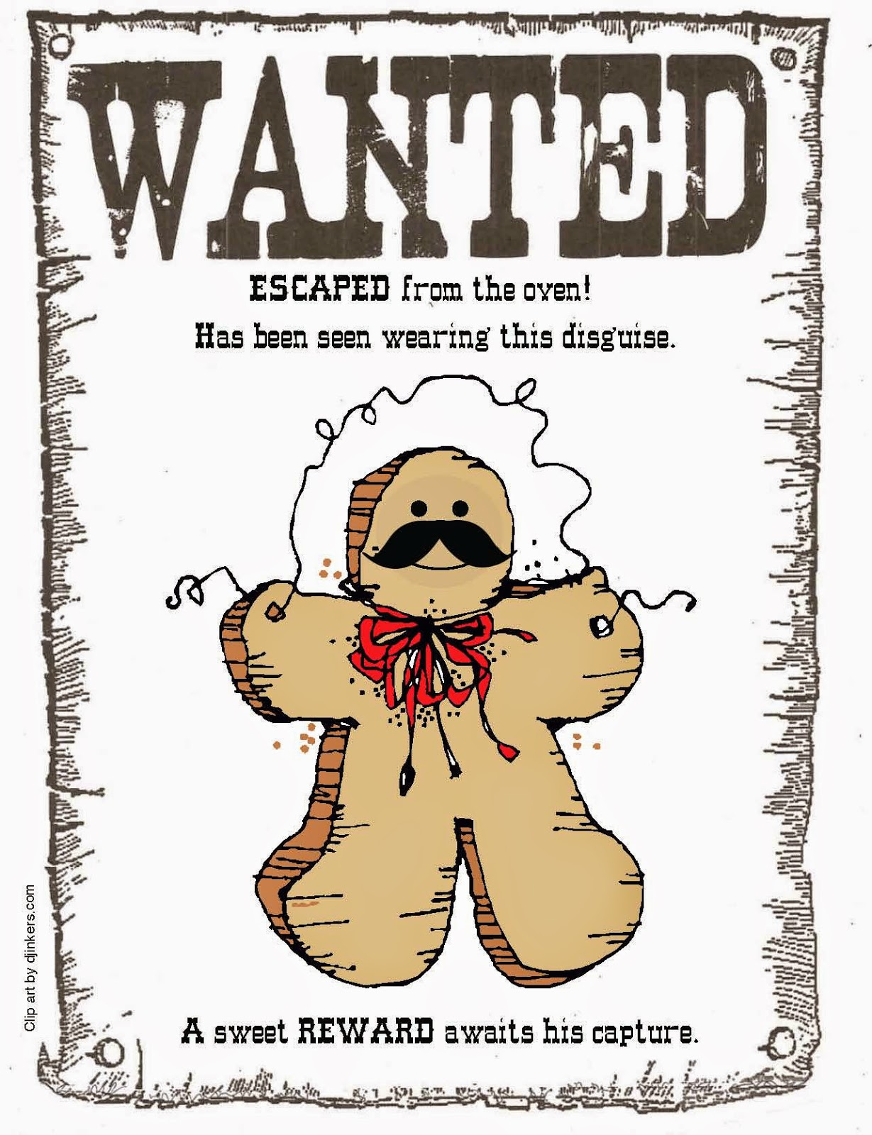 Classroom Freebies Gingerbread On The Loose Class Book Ed