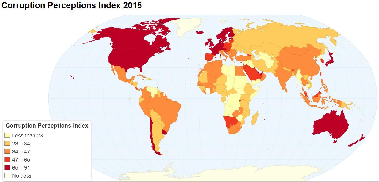 Corruption perceptions Index (2015)