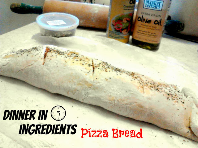 5 Things in My Fridge and a Recipe for Pizza Bread