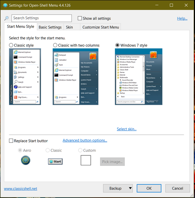 Open shell classsic start menu for Windows 10 and Windows 8 will replace the moder start screen with classic start menu.